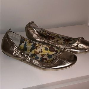 Metallic Silver Sperry Top Sider Flats - Size 7